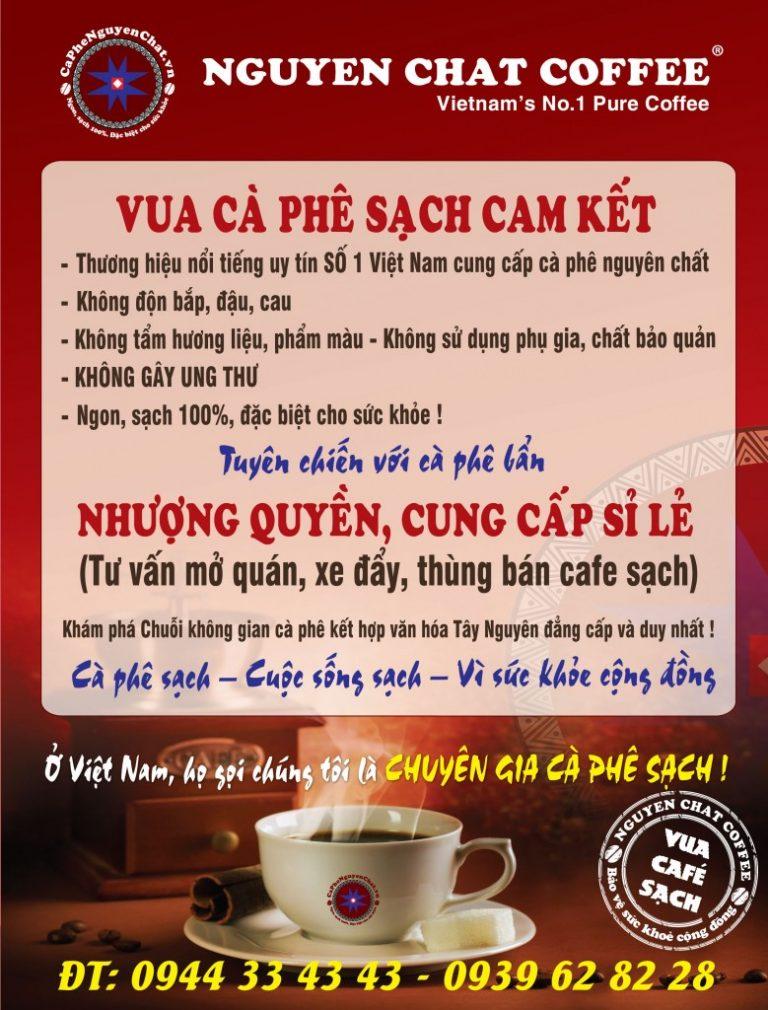 Vua cafe sạch cam kết vì sức khỏe cộng đồng