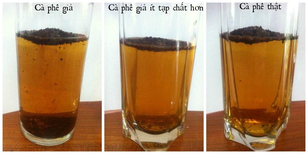 Phân biệt cà phê nguyên chất và cà phê giả khi đang pha