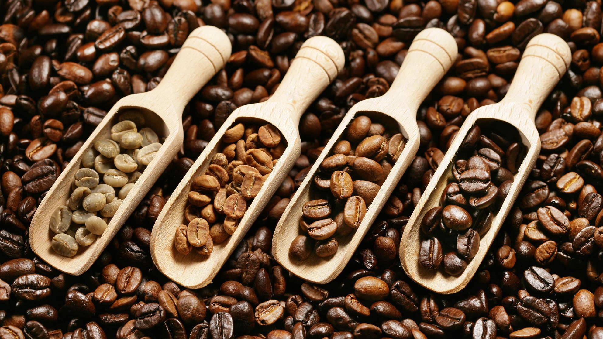 Cà phê hạt nguyên chất thơm ngon, tinh khiết