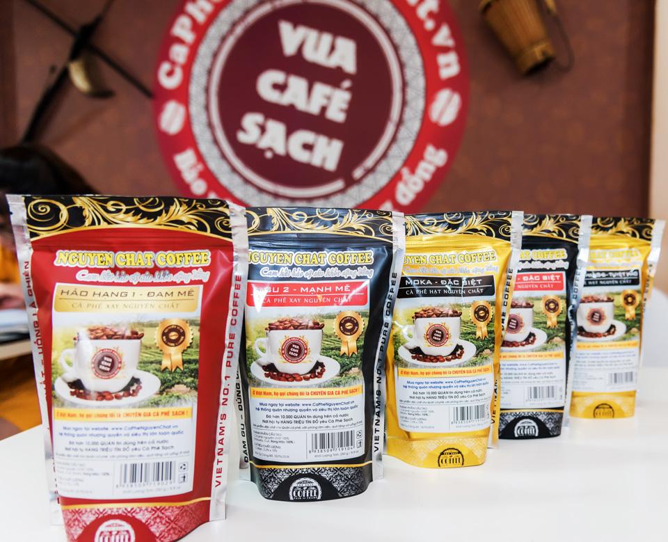 Các sản phẩm cà phê hảo hạng của Nguyên Chất Coffee & Tea
